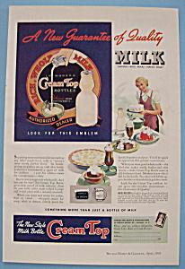 Vintage Ad: 1938 Cream Top Milk Bottles (Image1)