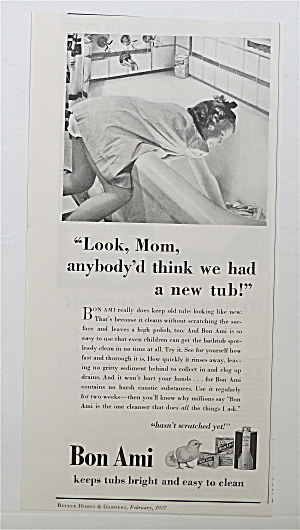 1937 Bon Ami with Little Girl Cleaning The Bathtub  (Image1)