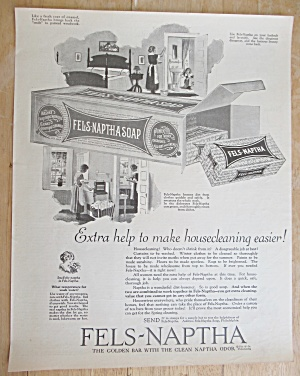 1925 Fels-naptha Soap With Women Cleaning