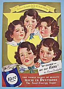 Vintage Ad: 1937 Karo Syrup with Dionne Quintuplets (Image1)