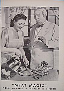Vintage Ad: 1943 B. V.  w/ George Rector (Image1)