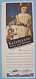 1943 Kalamazoo Stoves & Furnaces with Little Girl (Image1)