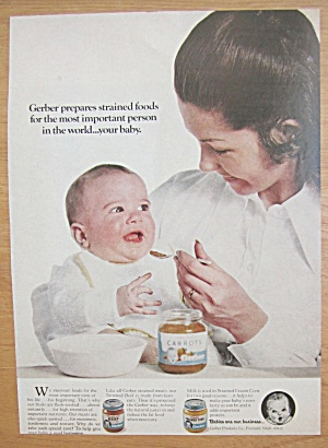 1971 Gerber's Baby Food with Woman Feeding Baby (Image1)