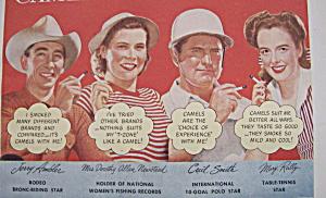 Vintage Ad:1948 Camel Cigarettes w/Ambler, Smith & More (Image1)
