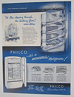 1948 Philco Refrigerator w/ Alice in Wonderland (Image1)