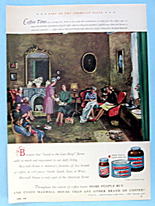 Vintage Ad:1948 Maxwell House Coffee By Richard Munsell