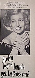 Vintage Ad: 1951 La Cross w/ Evelyn Keyes (Image1)