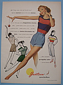 1951 Jantzen Sun Clothes with Woman in Shorts & Shirt (Image1)