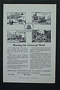 1917 American Telephone & Telegraph Co W/communication