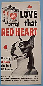 Vintage Ad: 1951 Red Heart Dog Food (Image1)