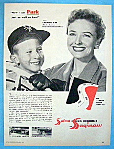 Vintage Ad: 1955 Saginaw Power Steering W/laraine Day