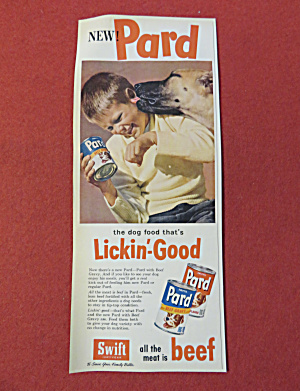 1955 Swift's Pard Dog Food With Disney's Tramp