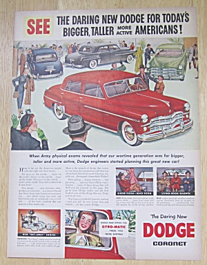 1949 Dodge Coronet With People In A Car Showroom