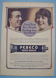 Vintage Ad: 1914 Pebeco Tooth Paste (Image1)