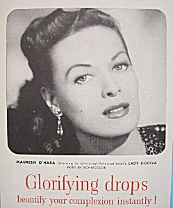 Vintage Ad: 1955 Westmore Tru-Glo Makeup w/M. O'Hara (Image1)