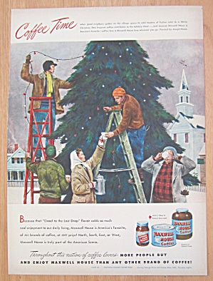 1948 Maxwell House Coffee with Men Decorating Tree (Image1)