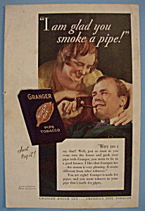 Vintage Ad: 1932 Granger Rough Cut Pipe Tobacco (Image1)