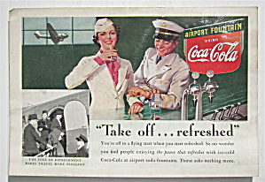 1938 Coca-cola (Coke) With Man & Woman By Soda Counter