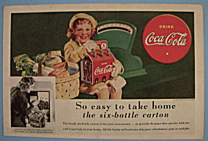 1938 Coca-Cola (Coke) with Little Girl & Six Pack (Image1)