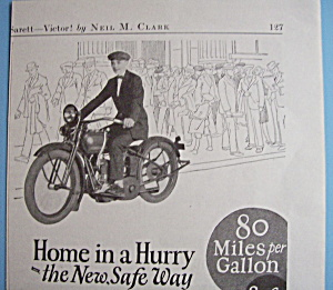 1926 Harley-Davidson Single Motorcycle with Man (Image1)
