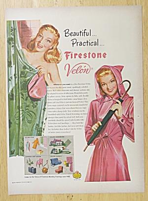 1947 Firestone Velon w/Woman In Shower & in Raincoat (Image1)