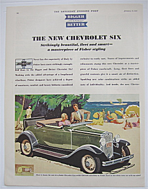 1931 New Chevrolet Six W/chevy Convertible Cabriolet
