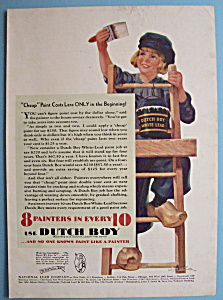 1931 Dutch Boy White Lead Paint w/Dutch Boy on Ladder (Image1)