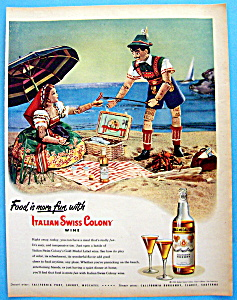 Vintage Ad: 1948 Italian Swiss Colony California Sherry (Image1)
