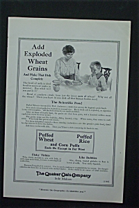 1917 Quaker Oats Company Wth Mother Giving Child A Bowl