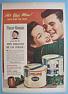 Vintage Ad: 1945 Revelation & Bond Street Pipe Tobacco (Image1)