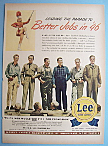 Vintage Ad: 1945 Lee Work Clothes (Image1)
