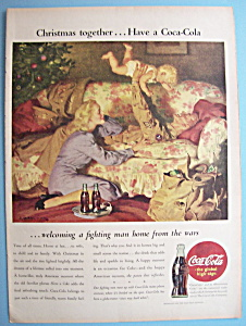 1945 Coca-Cola (Coke) with Soldier Playing with Baby (Image1)