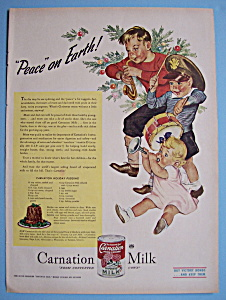 1945 Carnation Milk With Three Children Playing