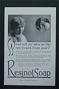 1917 Resinol Soap with Woman Looking in Mirror (Image1)