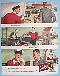 1949 Schlitz Beer with Man Fixing Up his Boat (Image1)