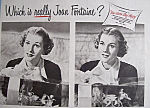 Vintage Ad: 1949 Auto-Lite Spark Plugs w/ Joan Fontaine (Image1)