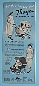 Vintage Ad: 1950 Thayer Carriages & Strollers