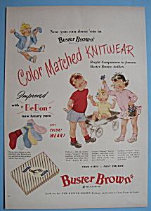 Vintage Ad: 1950 Buster Brown (Image1)