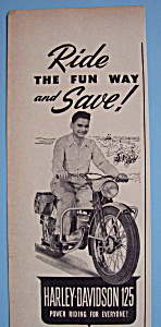 1950 Harley-Davidson 125 with Man on Motorcycle (Image1)