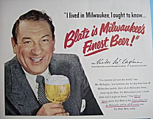 Vintage Ad: 1950 Blatz Beer w/ Victor McLaglen (Image1)