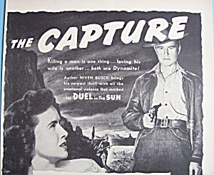 Vintage Ad:1950 The Capture W/lew Ayres & Teresa Wright