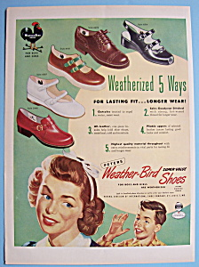 Vintage Ad: 1950 Weather - Bird Shoes (Image1)