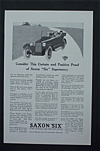 1917 Saxon Six with Old Fashioned Car (Image1)