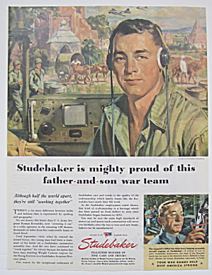 1945 Studebaker with Father & Son War Team (Image1)