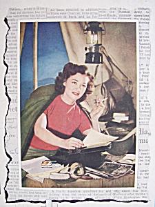 Vintage Ad: 1944 Camel Cigarettes w/ Pegge Parker (Image1)