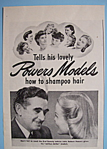 Vintage Ad: 1944 Kreml Shampoo w/ John Robert Powers (Image1)