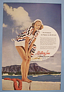 Vintage Ad: 1941 Matson Line To Hawaii (Image1)