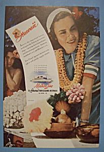 Vintage Ad: 1942 Matson Line To Hawaii (Image1)