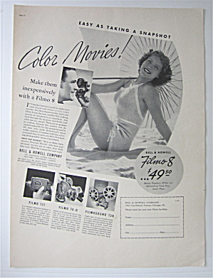 1937 Bell & Howell Filmo 8 with Woman On The Beach  (Image1)