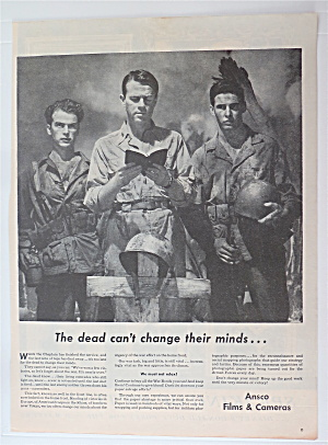 1945 Ansco Films & Cameras with 2 Soldiers & Chaplain  (Image1)